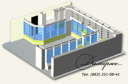 3D модель аптеки