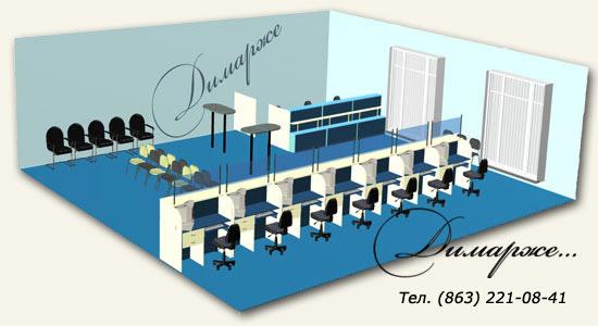 3D модель офиса банка